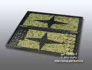 10628-1 Нарды складные из змеевика с двухсторонней флорентийской мозаикой, в подарочной упаковке
