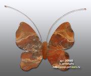 30640 Бабочка настенная из яшмы