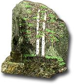 """Срез каменный полир. на подставке """"Скол с рисунком Азия"""""""