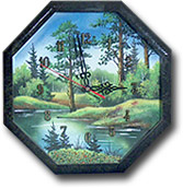"""Часы """"Восьмигранник №3"""" с рисунком ЧВ-3"""