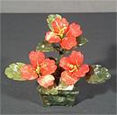 Бонсай с 3 цветками в вазе YF-107