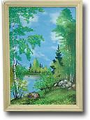 Панно из дерева с рисунком №3