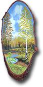 Срез дерева с рисунком  СД-3