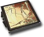 Зеркало карманное из яшмы (двухстороннее)
