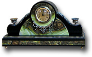 Часы каминные (офиокальцит, долерит)