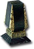 Ваза карандашница, полированная комбинированная