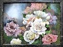 """Панно из камня """"Розы"""" 340х440"""