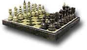 Шахматы из змеевика в подарочной упаковке