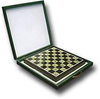 Шахматная доска из змеевика в подарочной упаковке