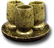 Коньячный набор КН-4 (блюдо+3 стопки) (Баж).