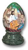 Яйцо на подставке с библейским сюжетом
