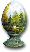 Яйцо на подставке с рисунком