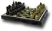 Шахматы малые из змеевика, в подарочной упаковке