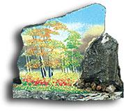 """Срез каменный на подставке""""Скол с рисунком""""-0,5"""