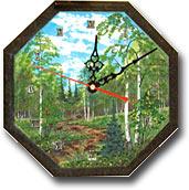 """Часы """"Восьмигранник №2"""" с рисунком ЧВ-2"""