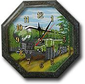 """Часы настенные """"Восьмигранник №3,5"""" с рисунком"""