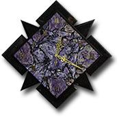 """Часы настенные """"Звездный квадрат"""" из чароита и змеевика"""