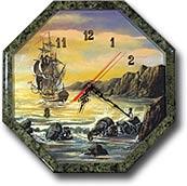 """Часы """"Восьмигранник №3,5"""" с рисунком"""
