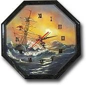 """Часы """"Восьмигранник № 3,5"""" с рисунком"""