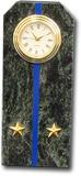 """Часы """"Погон-лейтенант"""" из змеевика с синим просветом"""