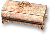 Шкатулка из криноида с ящерицей, на ножках