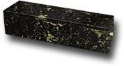 Футляр из змеевика под нож 350х110х92 мм с флоком внутри