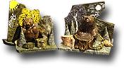 Композиция настольная из скалы с надписью и фигуры Медведя h-13