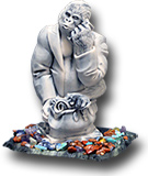 "Сувенир ""Символ года - Горилла""  100х80х130 мм"