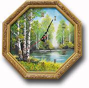 """Часы-панно из дерева """"Багет"""" восьмигранные"""