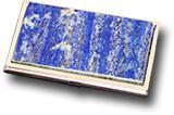 Визитница карманная из лазурита односторонняя 95х60х12 мм