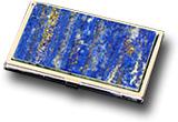 Визитница карманная из лазурита двухсторонняя 95х60х12 мм