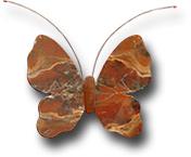Бабочка настенная из яшмы