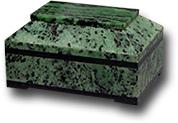 Ларец из цоизита с шарнирами 120х80х70мм