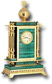 """Часы """"Герб"""" из малахита"""