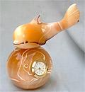 """Часы из селенита """"Дельфин """""""