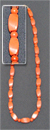 Бусы коралл (имитация) ромб + шар 54-56 см.
