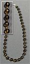 Бусы дымчатый кварц шар огранка Д-10 мм+шар огр. Д-4 мм 52-54 см