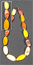 Бусы Яшма мукаит плоские витые 15*30 мм+шар Д-4 мм  47-50 см