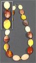 Бусы Яшма мукаит плоский овал 18*25 мм+шар Д-4 мм 52-54 см