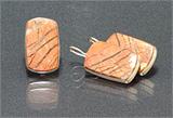 Гарнитур серьги+кольцо яшма, мельхиор 25-30х15-20 мм