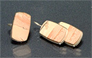 Гарнитур серьги+кольцо яшма, мельхиор 30х17 мм