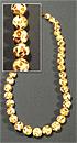 Бусы янтарь мозаика шар Д-12 мм  60 см