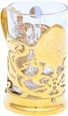 Подстаканник просечной рисованный со стаканом