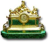 """Часы """"Горка"""" (малахит) в подарочной упаковке"""