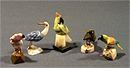 "Фигурка ""Птичка малая"" h-37 мм из разных камней"