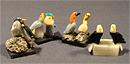 """Композиция """"Две птички на камне"""" h-40 мм из разных камней"""