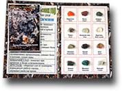 Коллекция минералов на открытке
