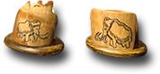 Подставка из бивня мамонта под сотовый телефон или под визитки